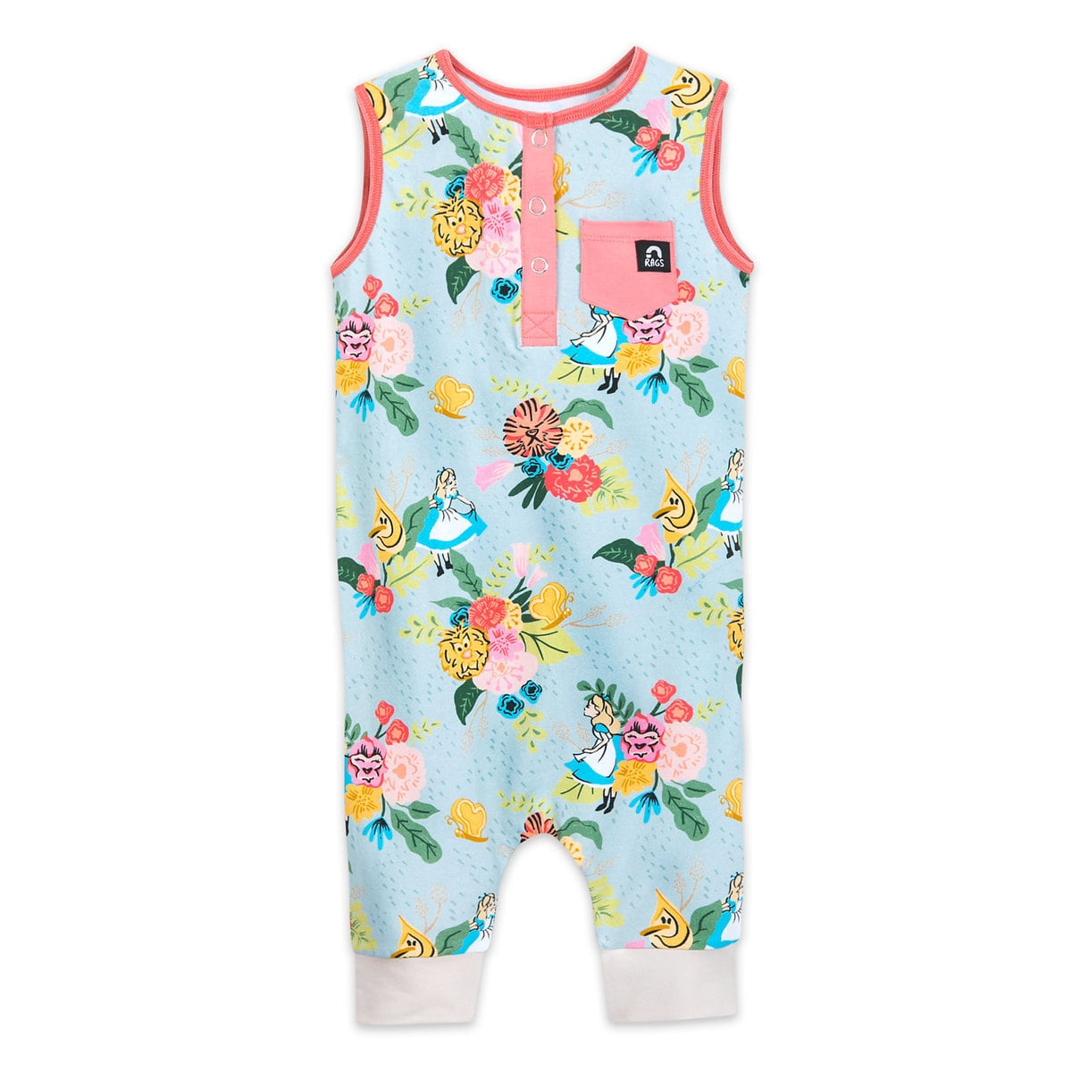 Super cute Alice in Wonderland romper for toddler girls | Top 25 Disney Gift Ideas for Toddlers featured by top US Disney blogger, Marcie and the Mouse
