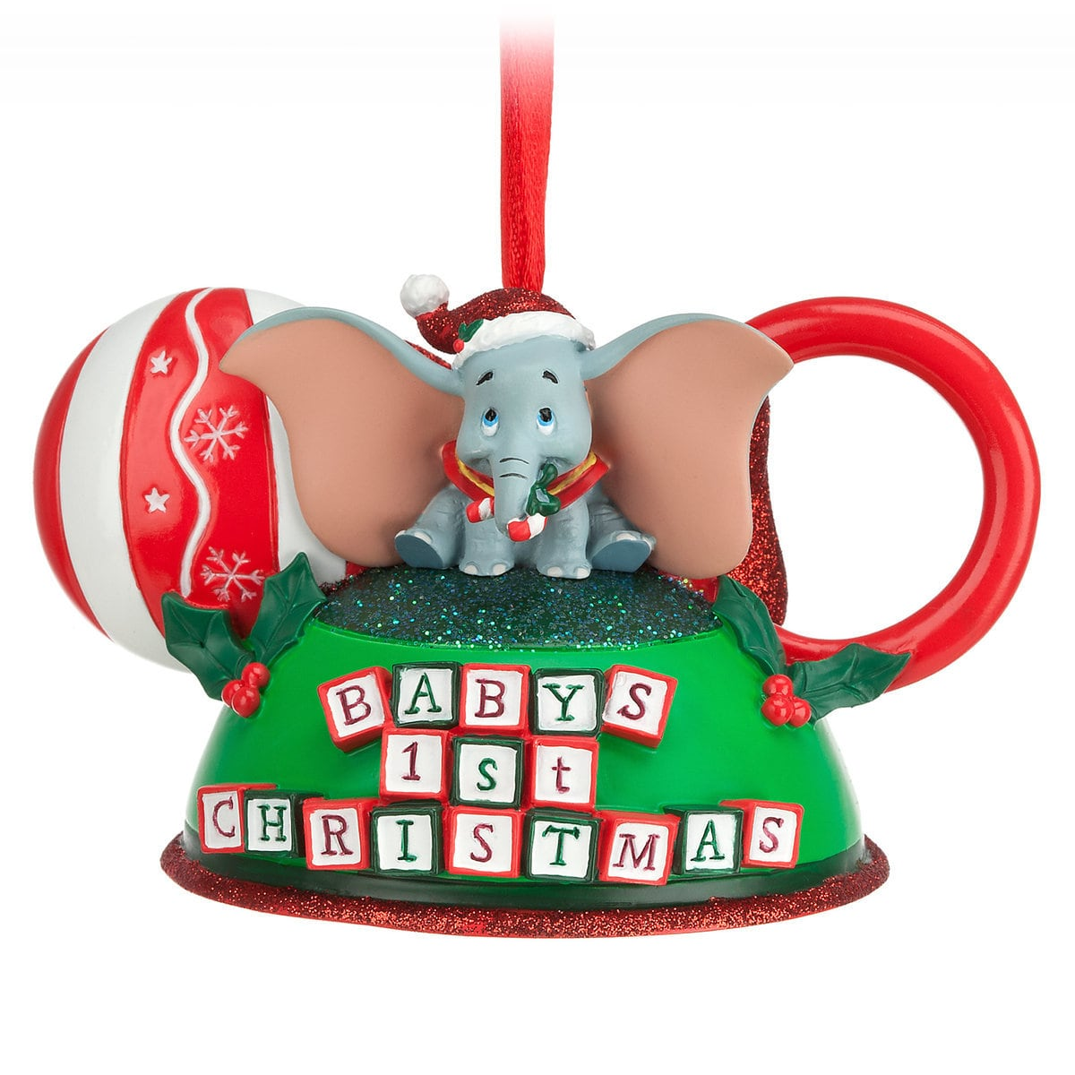 Top 25 Disney Gift Ideas for Babies featured by top US Disney blogger, Marcie and the Mouse: Baby's first Christmas ornament