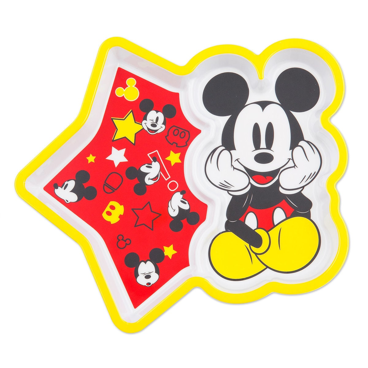 Mickey Mouse plate for toddlers | Top 25 Disney Gift Ideas for Toddlers featured by top US Disney blogger, Marcie and the Mouse