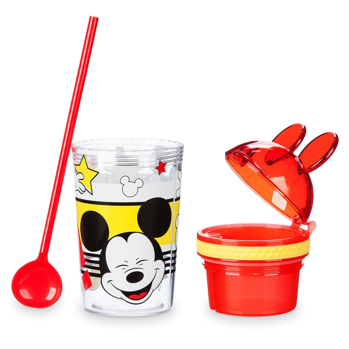 Adorable Mickey Mouse water bottle with snack cup for toddlers | Top 25 Disney Gift Ideas for Toddlers featured by top US Disney blogger, Marcie and the Mouse