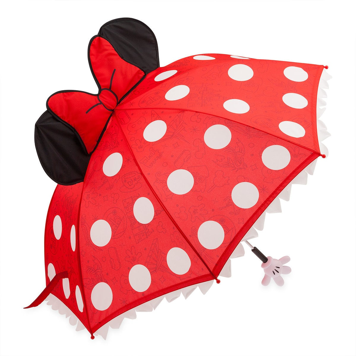 Red and white polka dot Minnie Mouse umbrella for kids | Top 25 Disney Gift Ideas for Toddlers featured by top US Disney blogger, Marcie and the Mouse