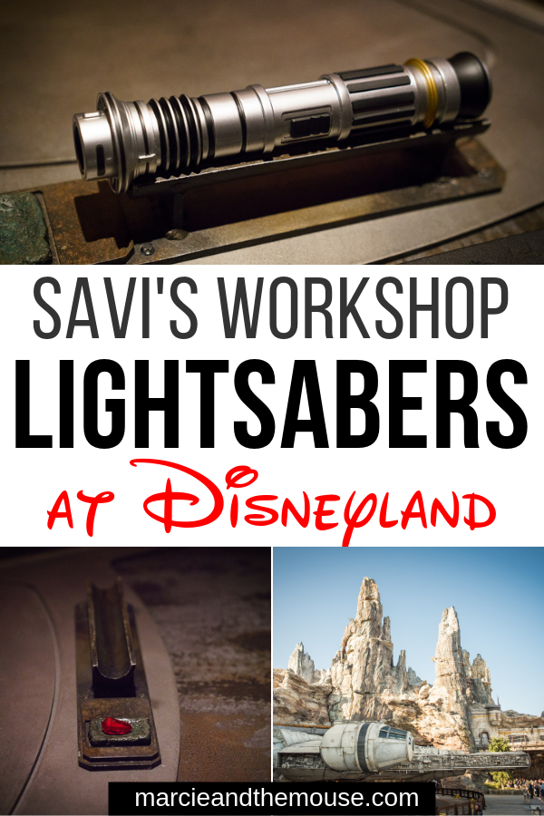 Savi's Workshop handbuilt lightsaber experience featured by top US Disney blogger, Marcie and the Mouse | Thinking about creating a custom lightsaber at Disneyland? Find out everything you need to know about Savi's Workshop--Handbuilt Lightsabers at Star Wars: Galaxy's Edge at Disneyland Resort in California