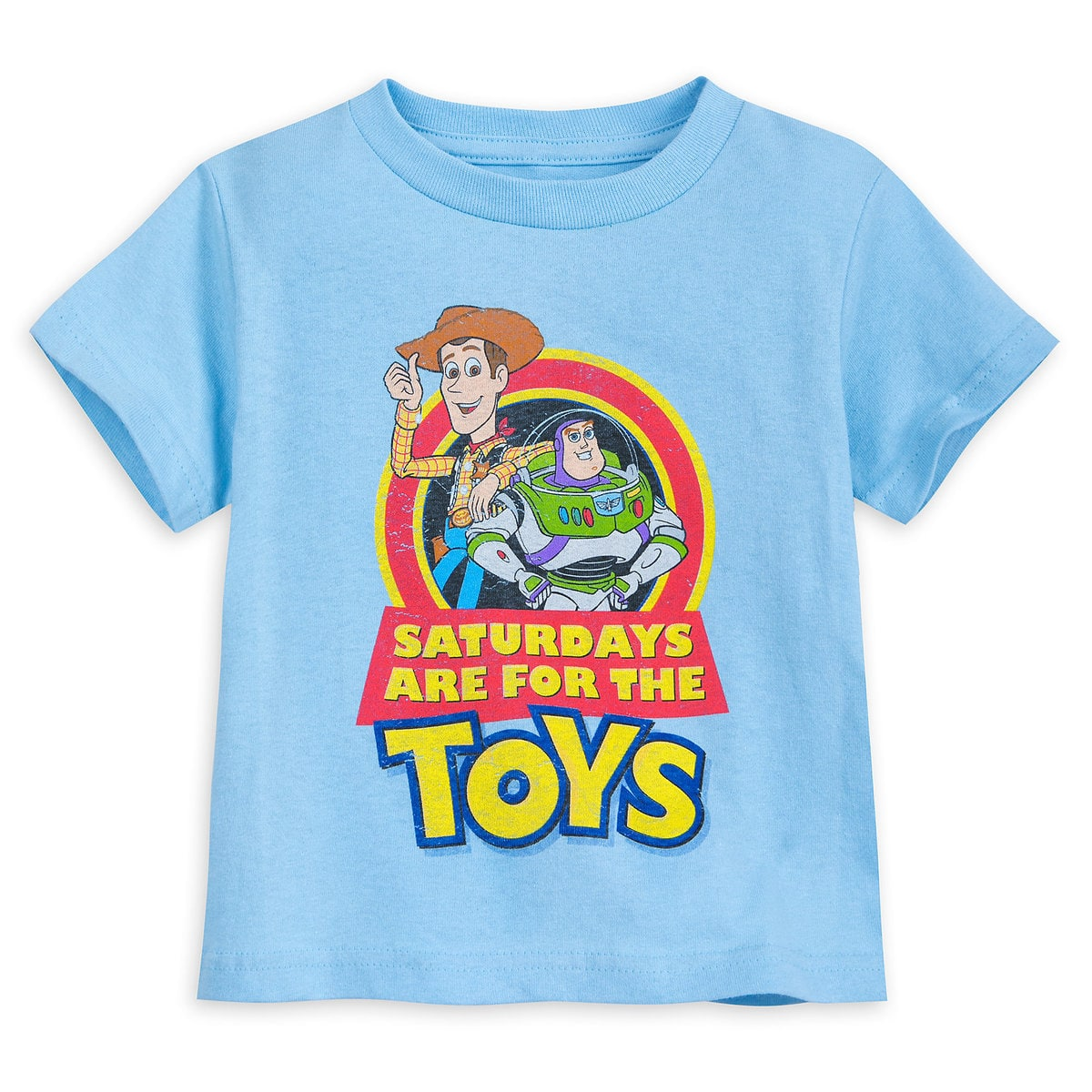Adorable Toy Story 4 shirts that says Saturdays are for the Toys   Top 25 Disney Gift Ideas for Toddlers featured by top US Disney blogger, Marcie and the Mouse