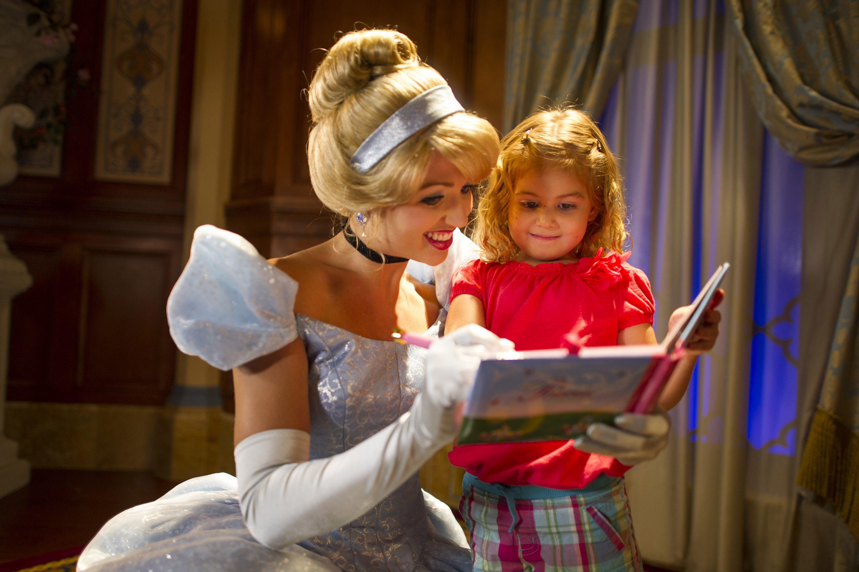 Where to Meet all the Walt Disney World Princesses, a guide featured by top US Disney blogger, Marcie and the Mouse: You can meet Cinderella at Walt Disney World in the Princess Fairytale Hall in Magic Kingdom