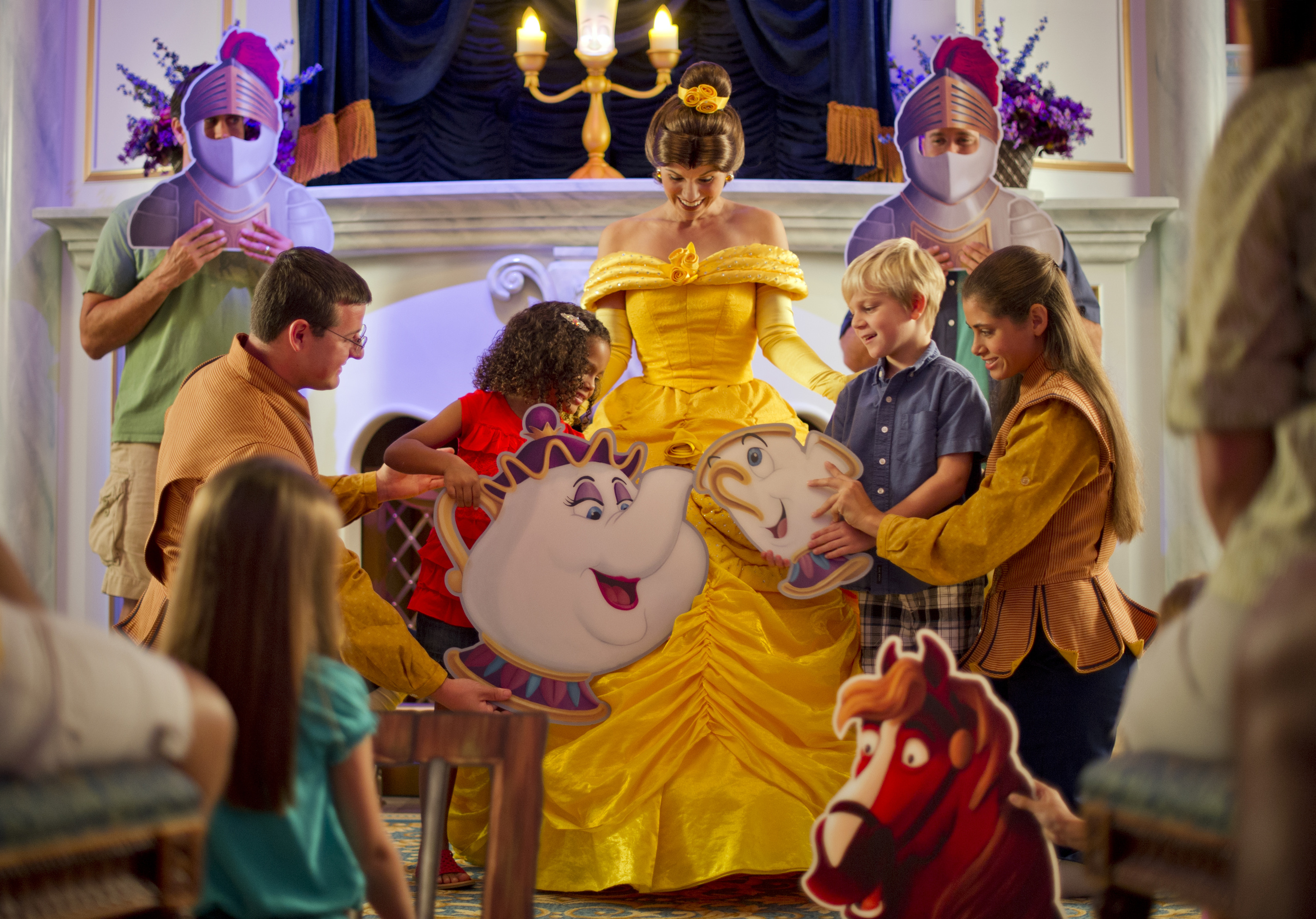 Where to Meet all the Walt Disney World Princesses, a guide featured by top US Disney blogger, Marcie and the Mouse: Guests can meet Belle at Enchanted Tales with Belle at Walt Disney World in Florida