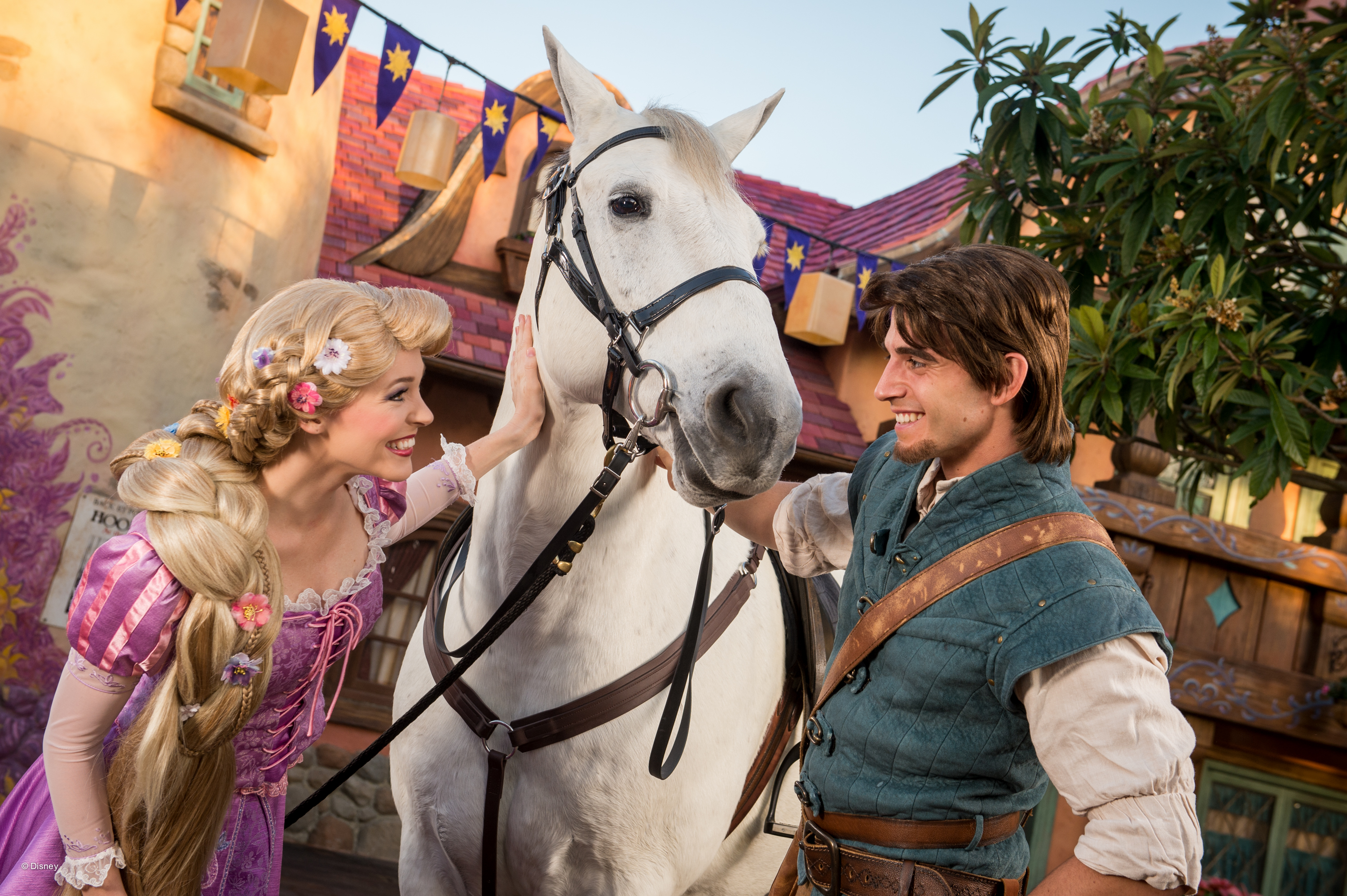 Where to Meet all the Walt Disney World Princesses, a guide featured by top US Disney blogger, Marcie and the Mouse: You can usually find Rapunzel at Walt Disney World alongside Flynn Ryder.