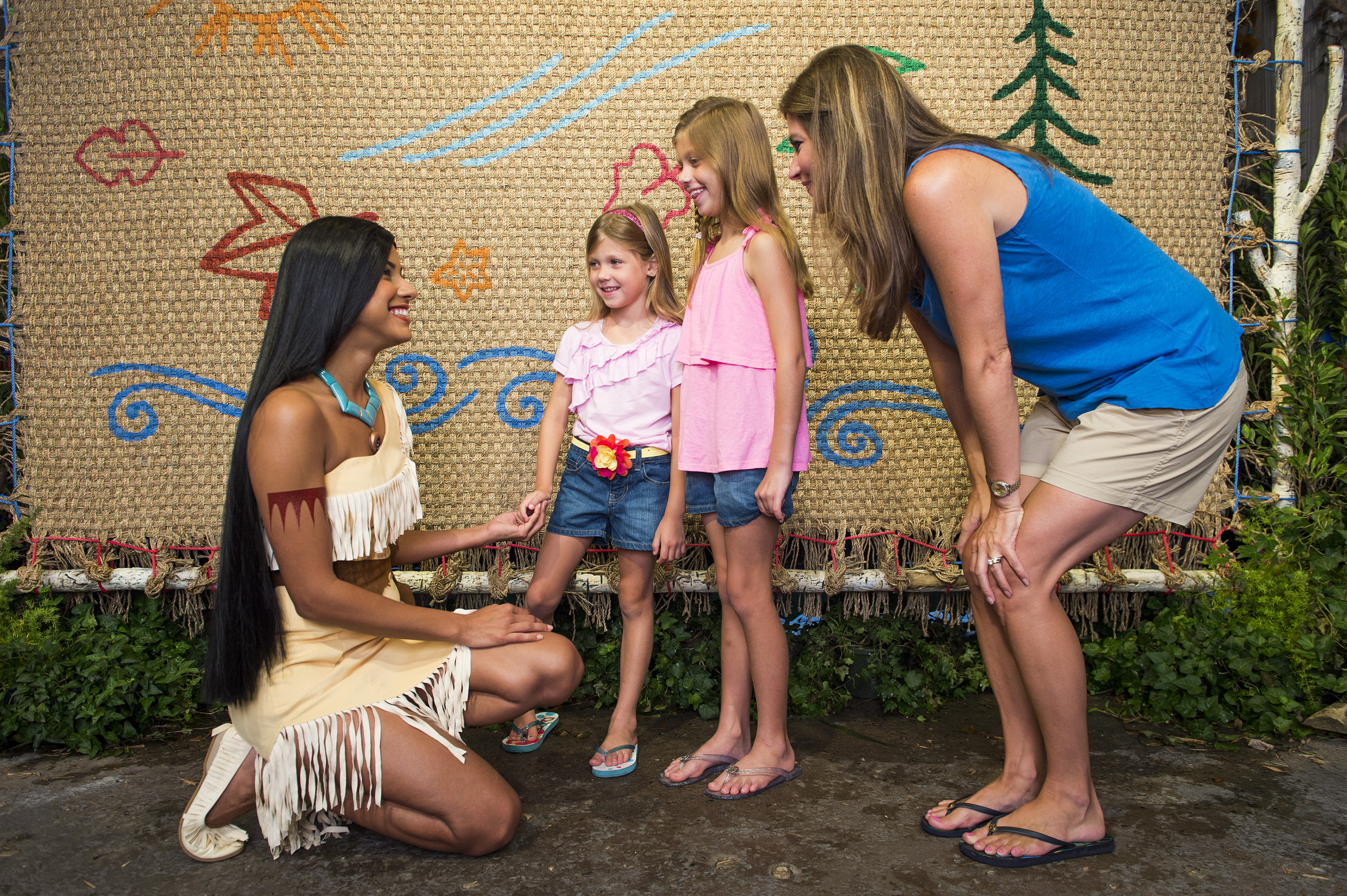 Families can meet Pocahontas at Disney's Animal Kingdom at Walt Disney World