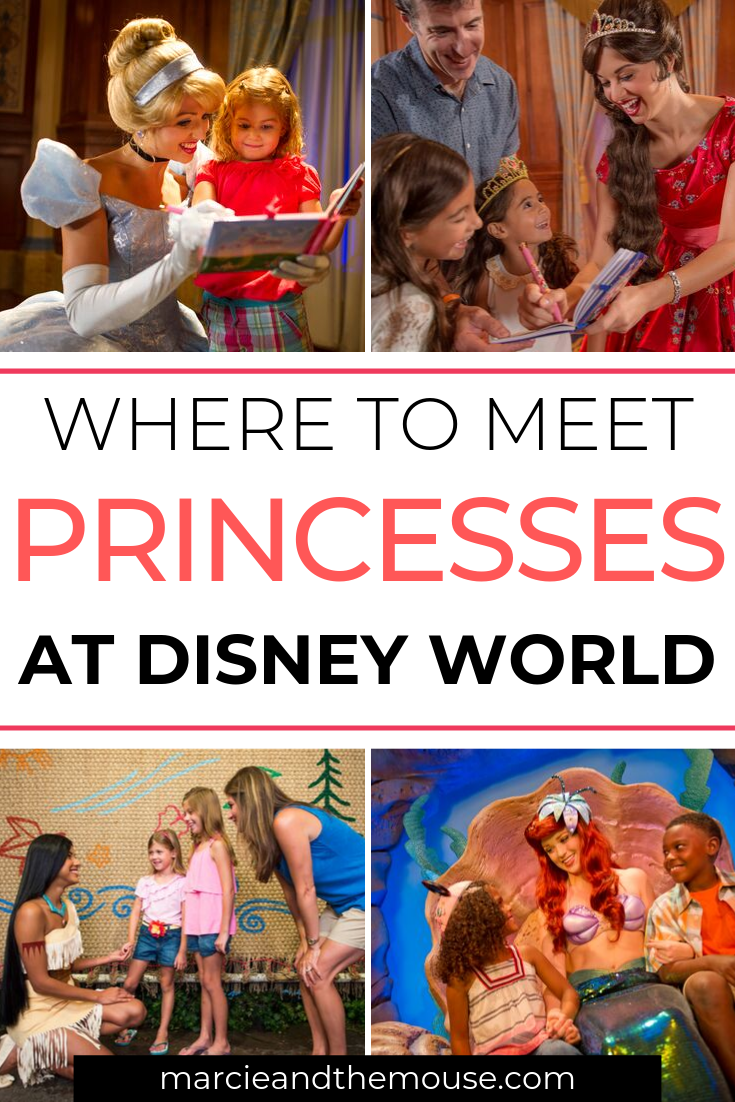 Where to Meet all the Walt Disney World Princesses, a guide featured by top US Disney blogger, Marcie and the Mouse: Find out where to meet every Disney princess at Walt Disney World Resort in Florida.