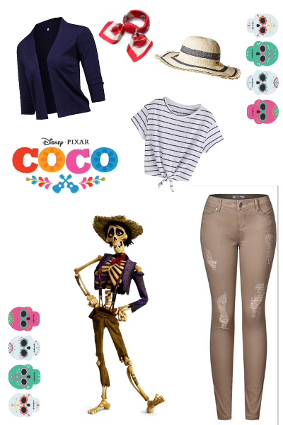 Cute Disneybound Outfits for Moms featured by top US Disney blogger, Moana and the Mouse: Dress up as Hector from Disney Pixar's Coco movie.