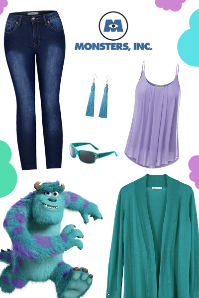 Cute Disneybound Outfits for Moms featured by top US Disney blogger, Moana and the Mouse: Dress up like Sully from Monsters Inc in this cute Disneybounding outfit perfect for Walt Disney World or Disneyland Resort.