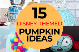 The Best 15 Disney No Carve Pumpkin Ideas featured by top US Disney blog, Marcie and the Mouse: Want to create Disney Halloween decorations? Check out these Disney-themed, no-carve pumpkin ideas perfect for celebrating Halloween!