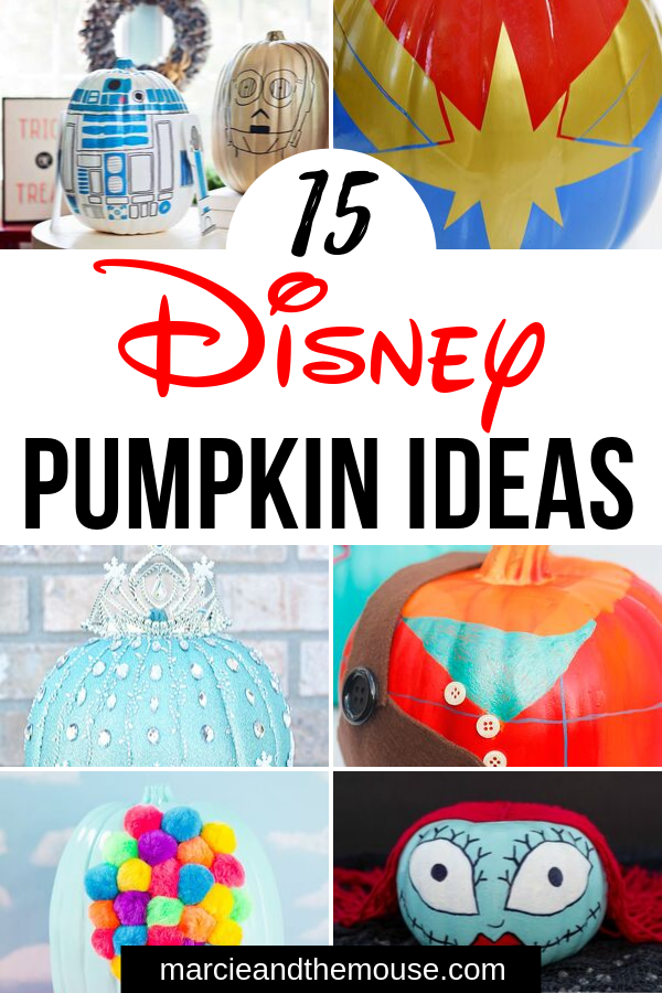 The Best 15 Disney No Carve Pumpkin Ideas featured by top US Disney blog, Marcie and the Mouse: Looking to add some Disney Halloween decorations? Check out these 15 no-carve Disney pumpkin ideas perfect for Halloween!