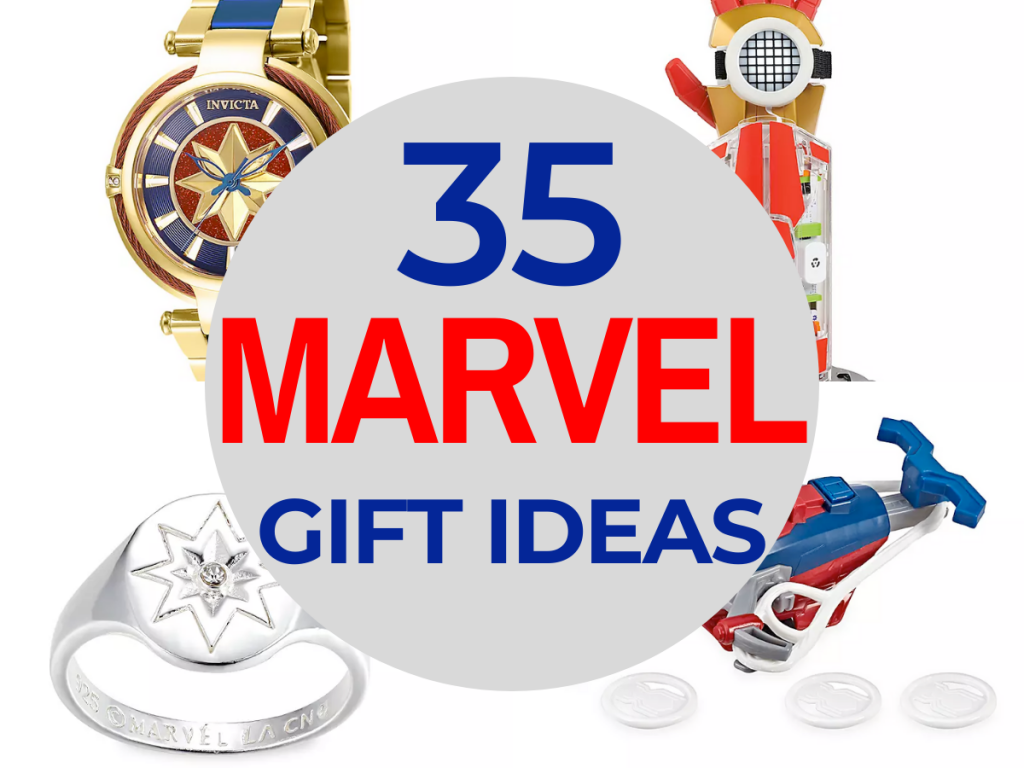 35 Amazing Marvel Gift Ideas featured by top US Disney blogger, Marcie and the Mouse | 35 Marvel gift ideas featuring Captain America, Captain Marvel, Spider-Man, the Hulk, Avengers, and more.