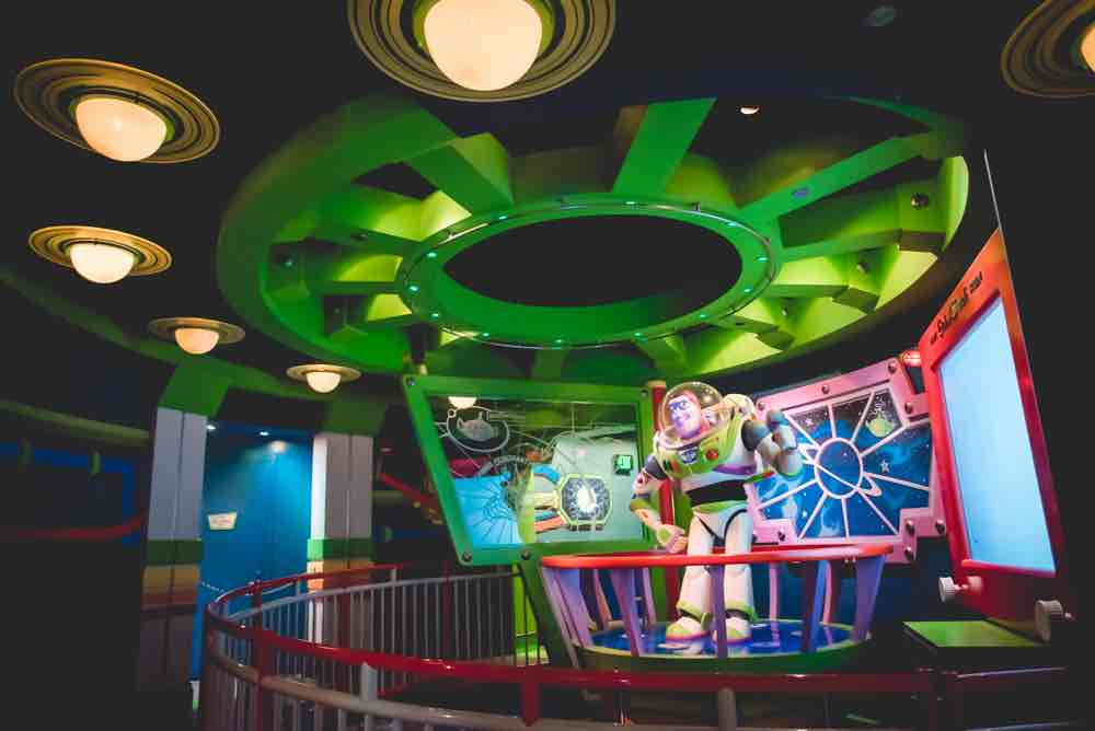 How Many Days Do you Need at Disneyland? Tips featured by top US Disney blogger, Marcie and the Mouse: Buzz Lightyear's Astro Blasters is a popular Disneyland ride for people of all ages