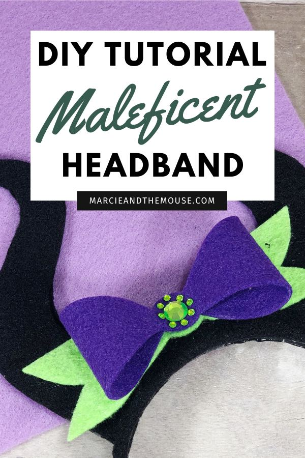 DIY Maleficent headband tutorial featured by top US Disney blogger, Marcie and the Mouse | Do you love Disney Villains? Then, you'll love this easy Disney DIY Maleficent headband, perfect for Halloween or for wearing at Disneyland or Walt Disney World. Pair them with a black and purple dress and you have an easy Maleficent Disneybounding outfit!