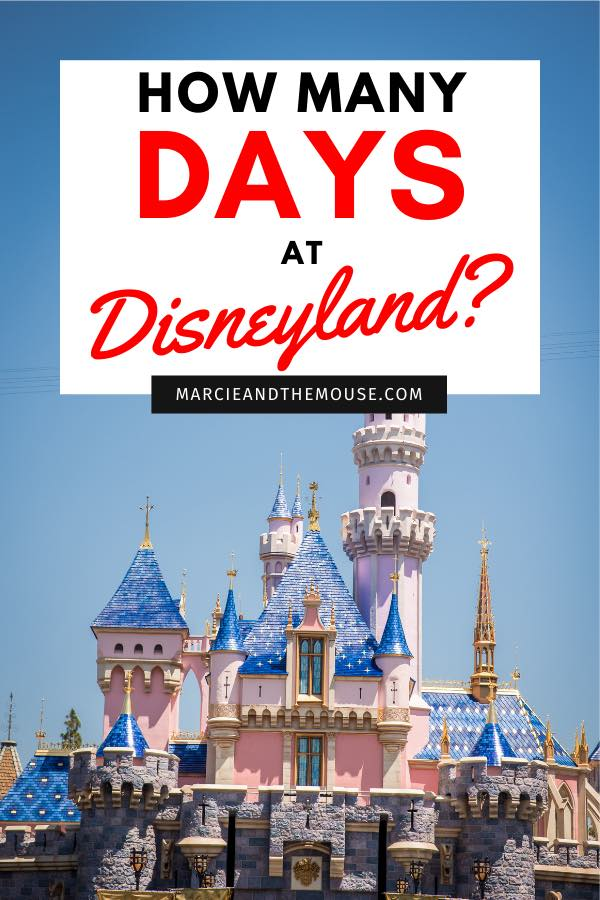 How Many Days Do you Need at Disneyland? Tips featured by top US Disney blogger, Marcie and the Mouse: Planning a trip to Disneyland? Find out how many days to spend there to do everything you want to do. Plus, find out how to save money on your Disneyland package!