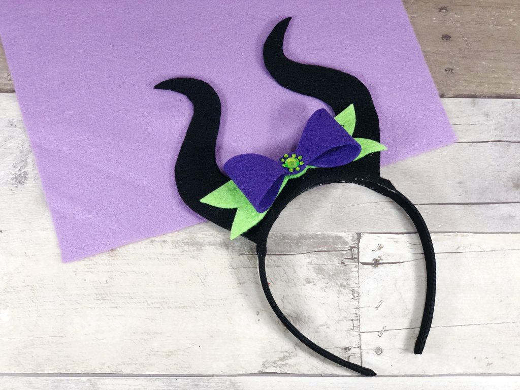 DIY Maleficent headband tutorial featured by top US Disney blogger, Marcie and the Mouse | Disney DIY Maleficent Felt Headband