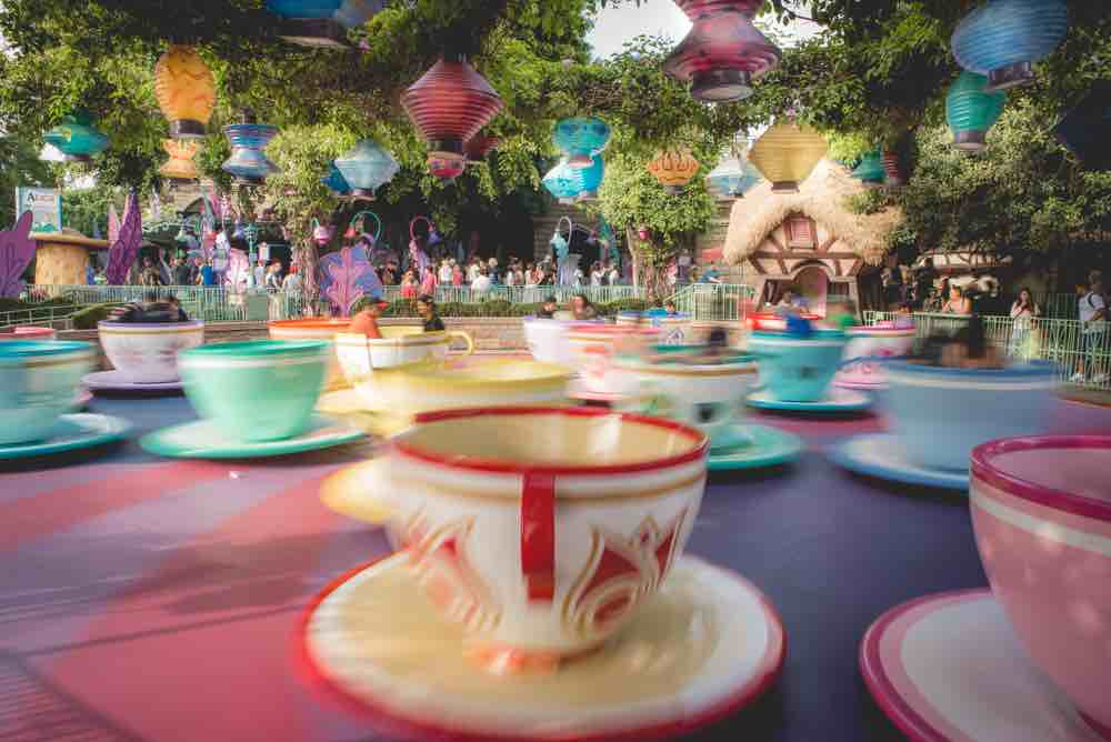 Mad Tea Party Spinning Teacups at Disneyland