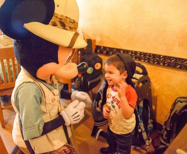 Mickey Mouse is just one of the hosts of this Tusker House character breakfast at Walt Disney World's Animal Kingdom Park. This character meal also features Daisy, Donald, and Goofy and it's a buffet-style table service restaurant that is part of the Disney Dining Plan. #tuskerhouse #animalkingdom #waltdisneyworld #disneyworld #characterbreakfast | Tusker House Character Breakfast review featured by top Disney blogger, Marcie and the Mouse