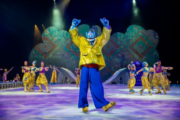 Disney on Ice: Mickey's Search Party show featured by top US Disney blogger, Marcie and the Mouse | Disney on Ice: Mickey's Search Party Aladdin performance
