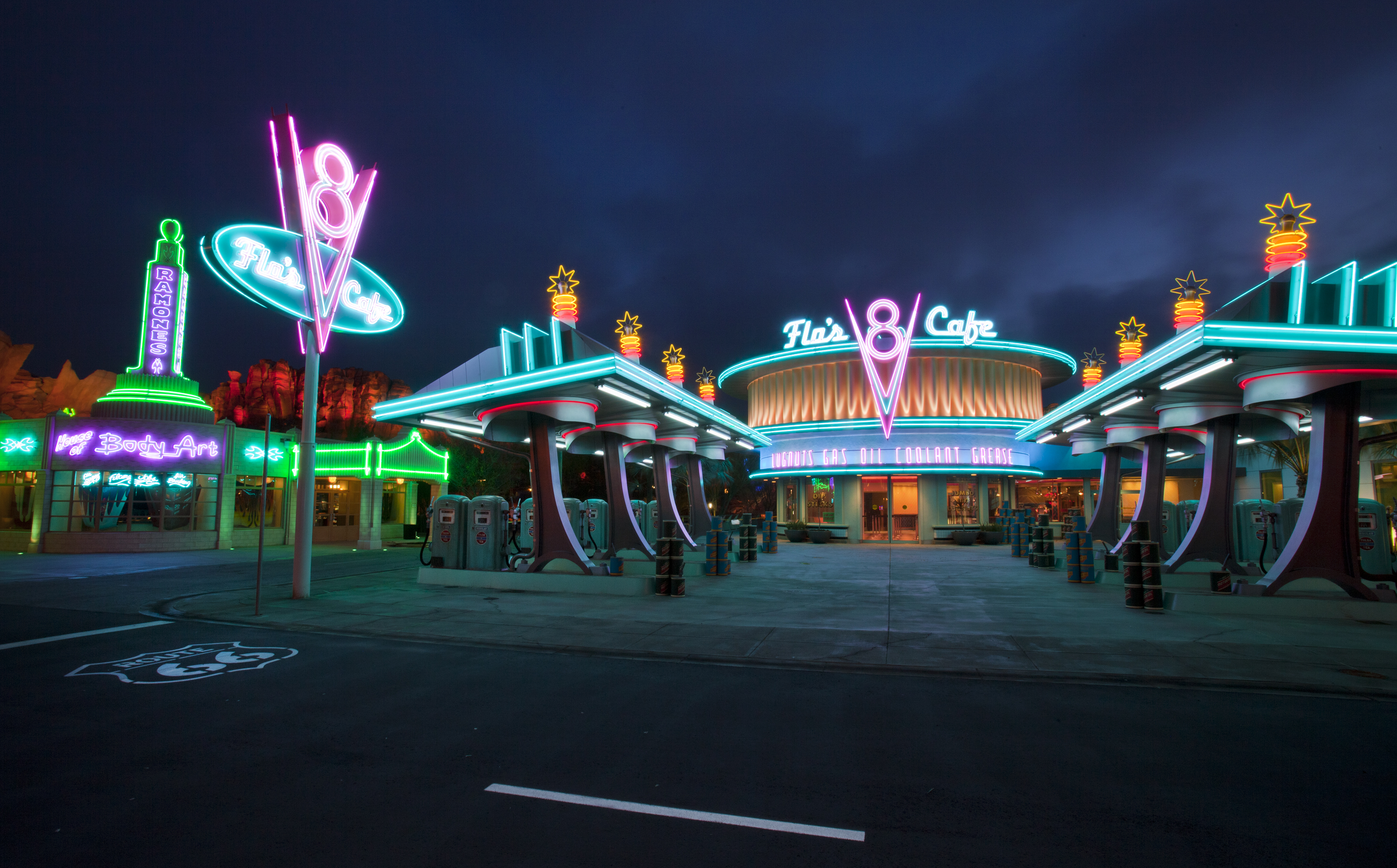 Best Disneyland breakfast featured by top US Disney blogger, Marcie and the Mouse: Flo's V8 Cafe is a great place for breakfast in Cars Land at Disney California Adventure