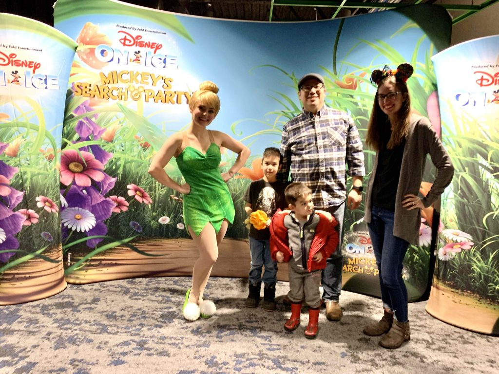 Disney on Ice: Mickey's Search Party show featured by top US Disney blogger, Marcie and the Mouse | Photo op at Disney on Ice: Mickey's Search Party