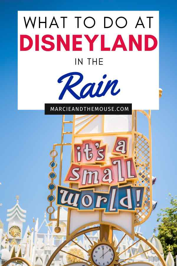 What to Do at Disneyland in the Rain, tips featured by top US Disney blogger, Marcie and the Mouse.