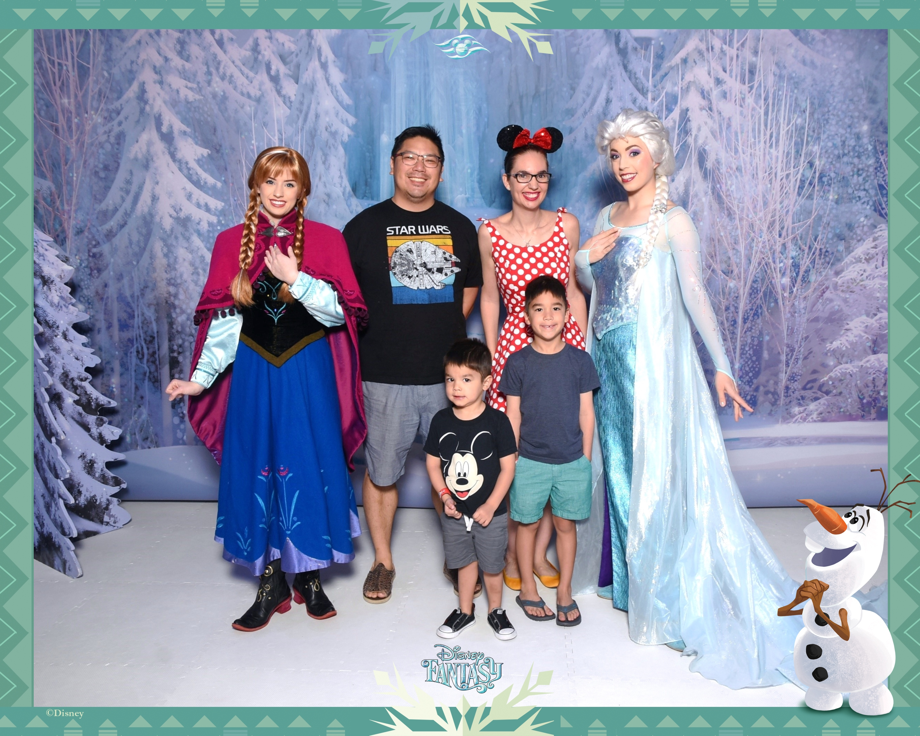 cAnna and Elsa Frozen Meet and Greet on Disney Fantasy Cruise Ship