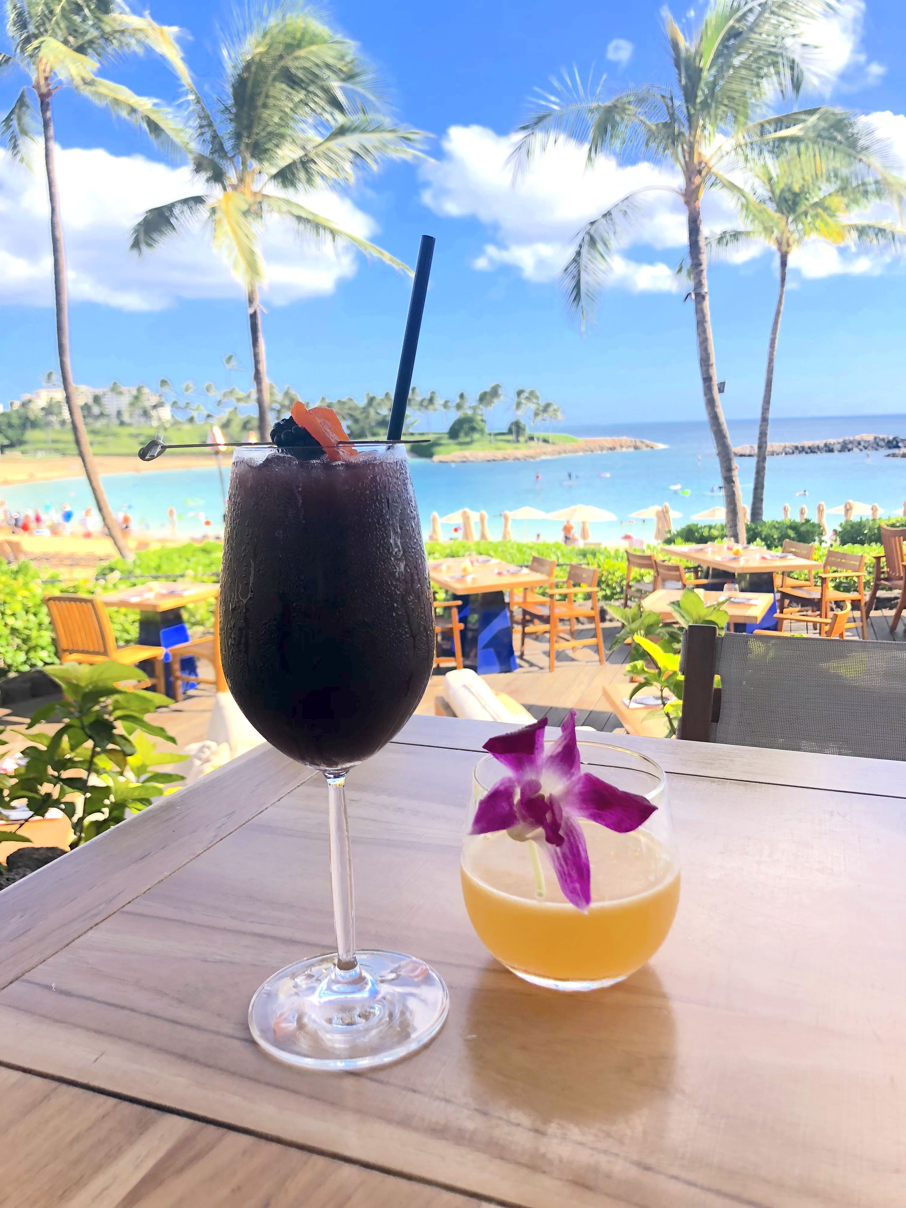 Aulani Resort Dining Guide featured by top US Disney blogger, Marcie and the Mouse: Happy Hour at the Four Seasons Ko Olina