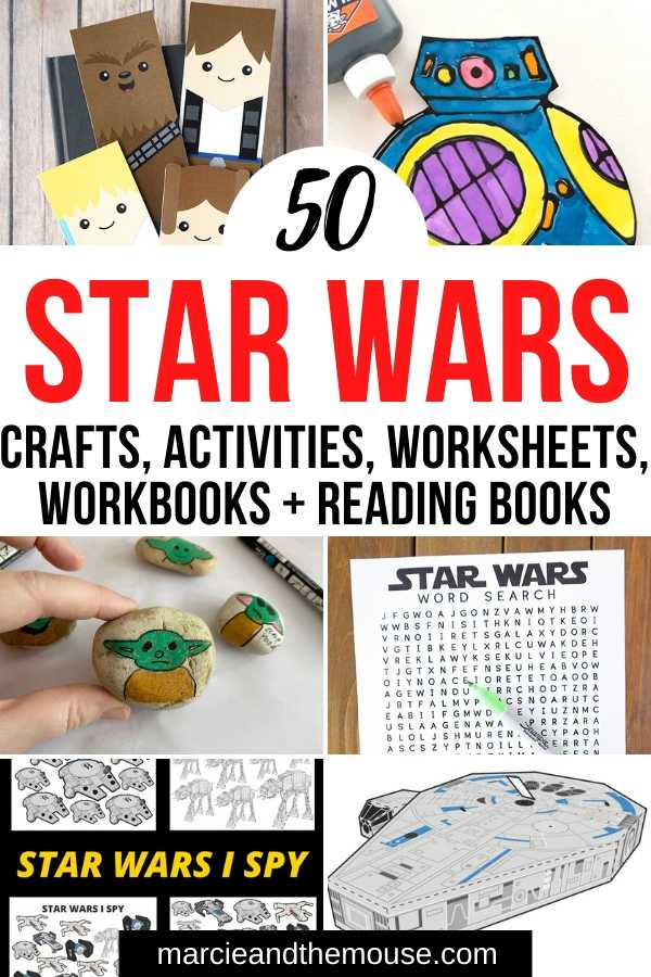 Top 50 Star Wars Crafts, Activities, Workbooks, Worksheets to entertain your family, featured by top US Disney Blogger, Marcie and the Mouse.