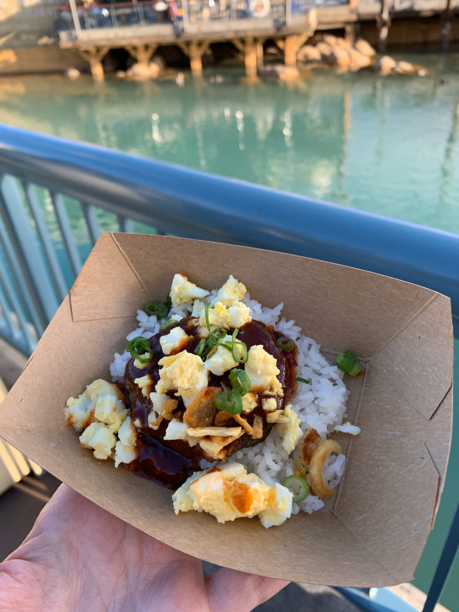 2020 Disney California Adventure Food & Wine Festival guide featured by top US Disney blogger, Marcie and the Mouse: Beef Loco Moco at Disney California Food & Wine Festival