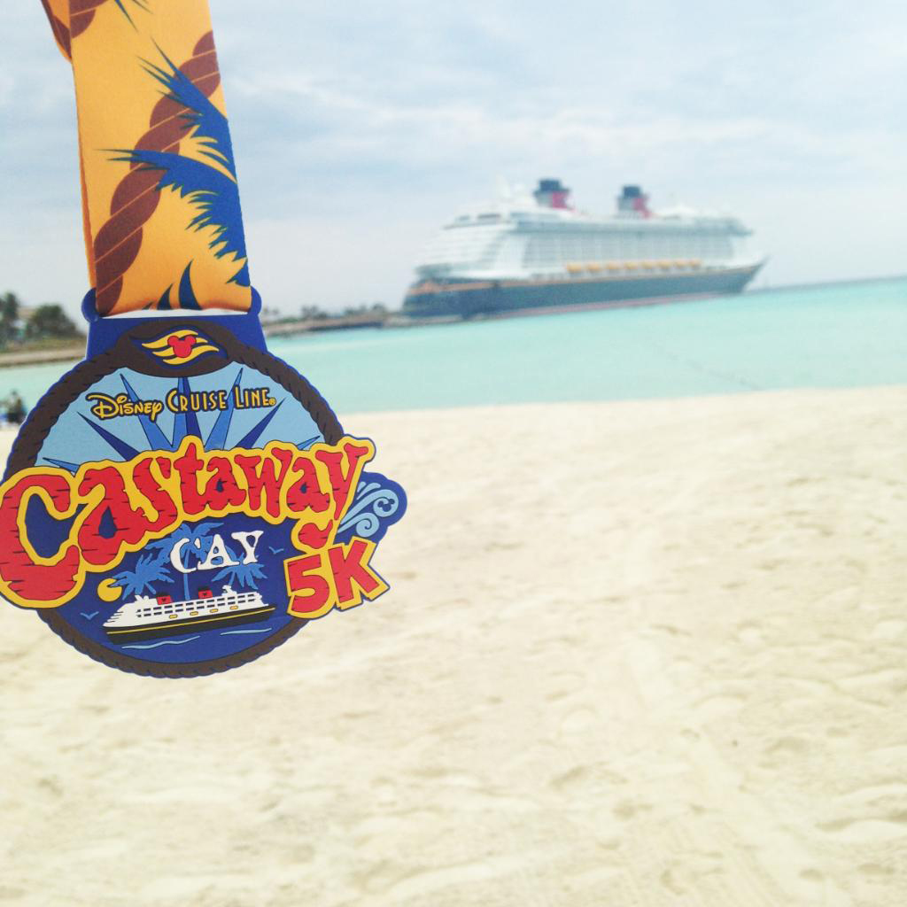 Castaway Cay Activities: a Complete Guide to Beaches and Events featured by top US Disney blogger, Marcie and the Mouse: On Castaway Cay, families can run, jog or walk in the Castaway Cay 5K, a great way to explore the island and take in the lush tropical landscape while staying fit. Each finisher gets to take away a special participant's medal. (Disney)