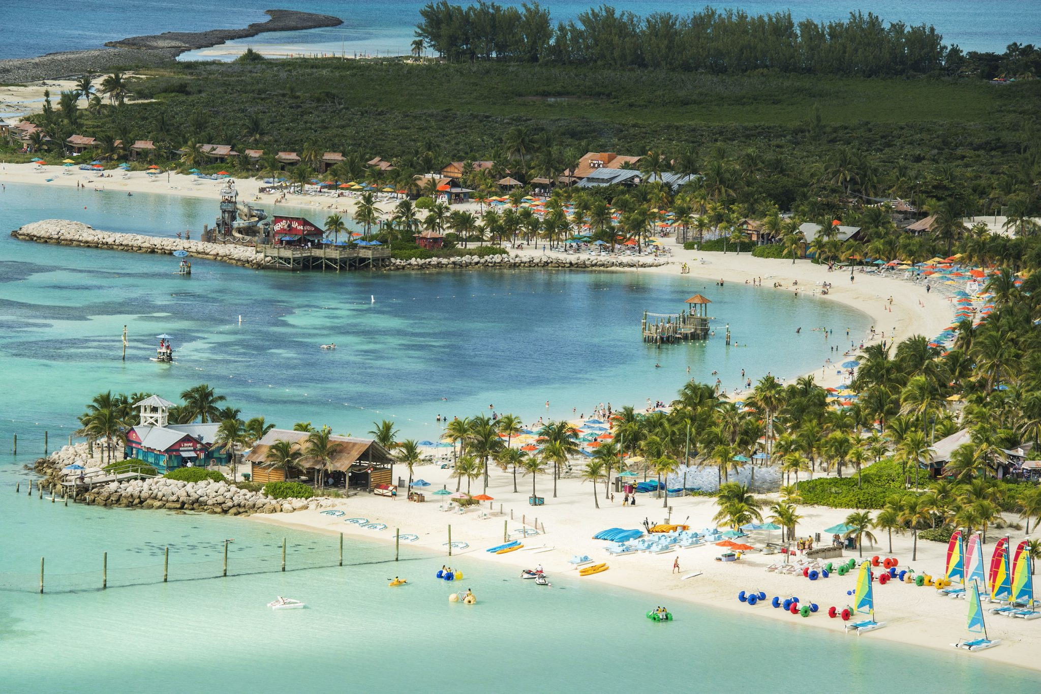 Castaway Cay Activities: a Complete Guide to Beaches and Events featured by top US Disney blogger, Marcie and the Mouse: Castaway Cay is Disney's private island paradise in the tropical waters of the Bahamas, reserved exclusively for Disney Cruise Line guests. In a setting of crystal-clear turquoise waters, powdery white-sand beaches and lush landscapes, the 1,000-acre island offers one-of-a-kind areas and activities for every member of the family. (Matt Stroshane, photographer)