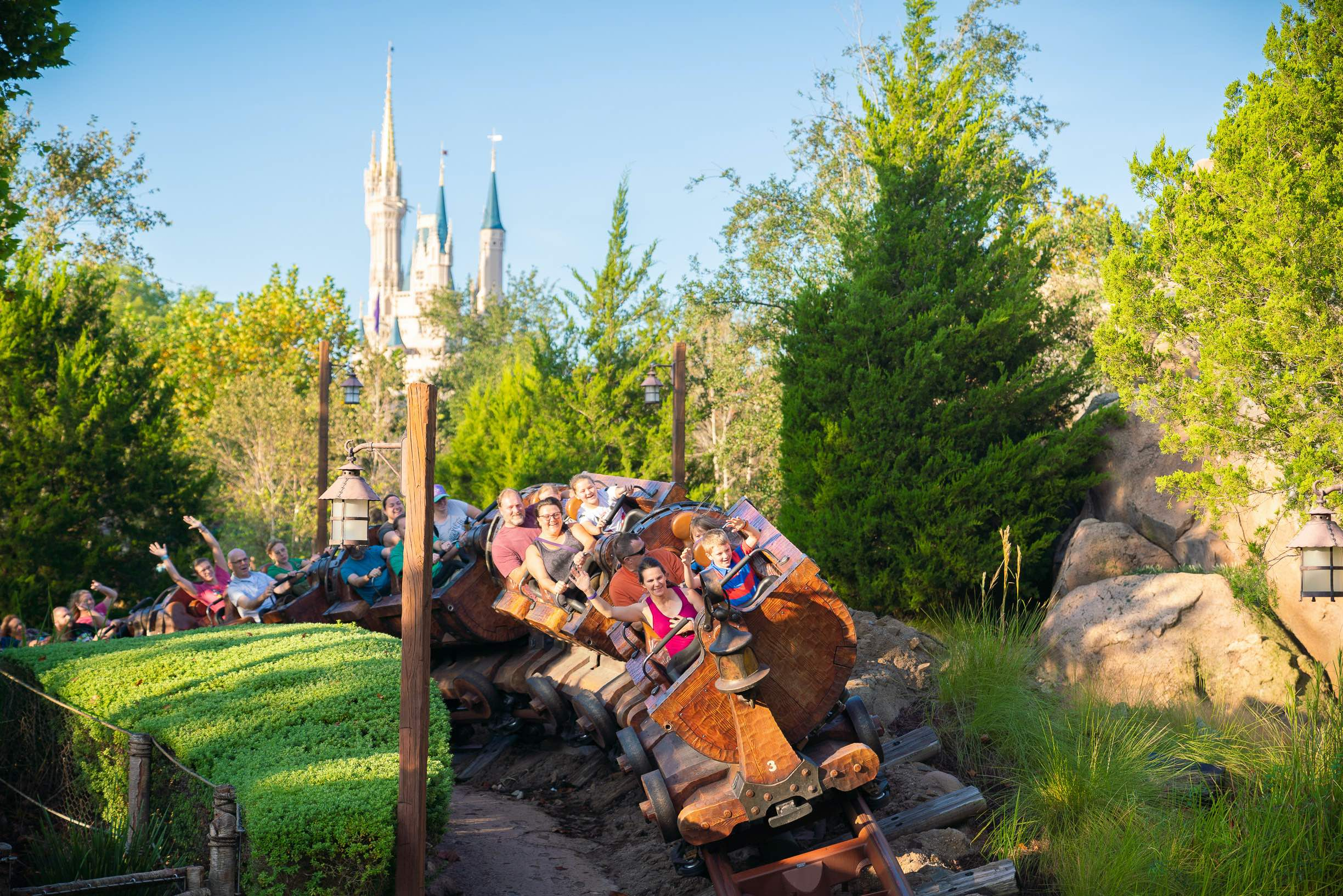 Walt Disney World While Pregnant featured by top US Disney blogger, Marcie and the Mouse | Seven Dwarfs Mine Train ride at Magic Kingdom at Walt Disney World