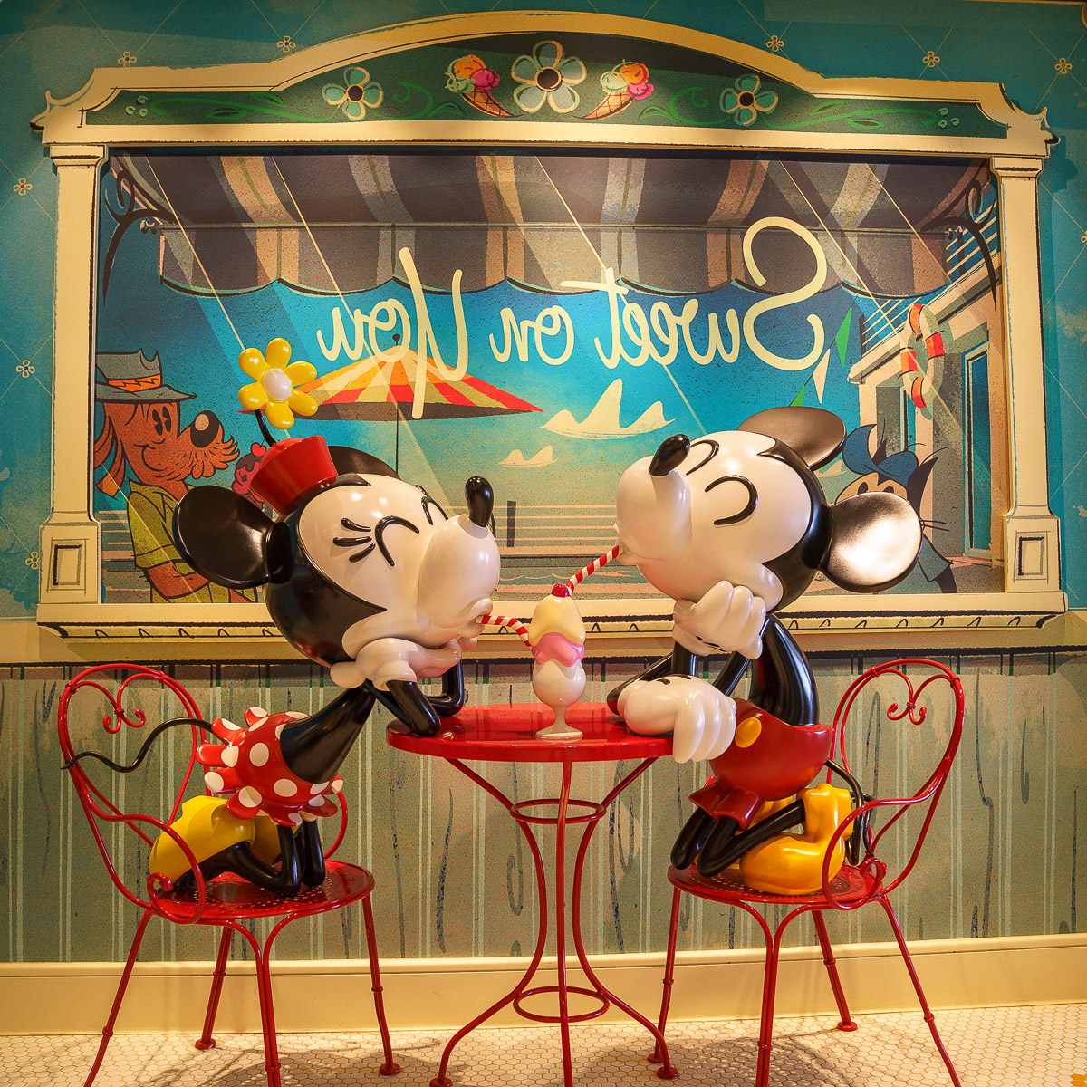 Top 10 Things to Do on Disney Fantasy featured by top US Disney blogger, Marcie and the Mouse: Sweet on You ice cream shop on Disney Fantasy cruise ship