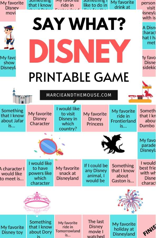 Disney FREE Printable Game: Disney Say What featured by top US Disney blogger, Marcie and the Mouse