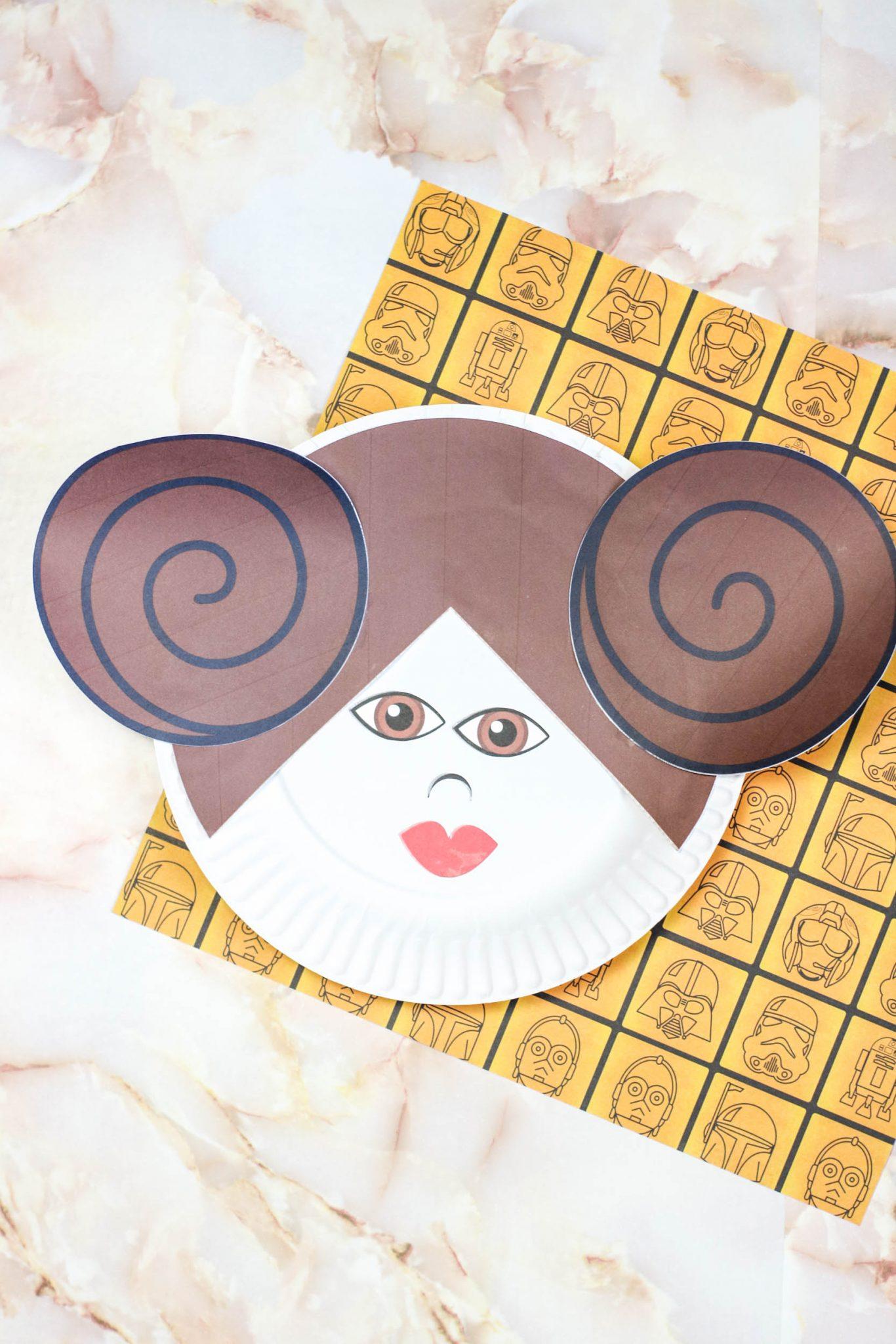 Princess Leia Paper Plate Craft