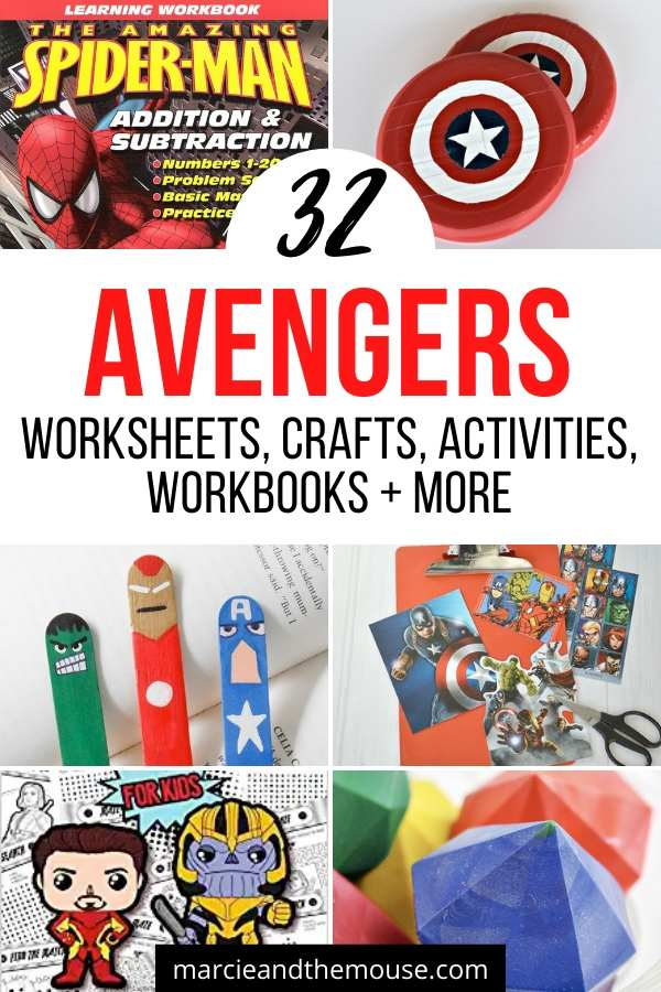 Fun Avengers crafts and activities shared by top US Disney blogger, Marcie and the Mouse